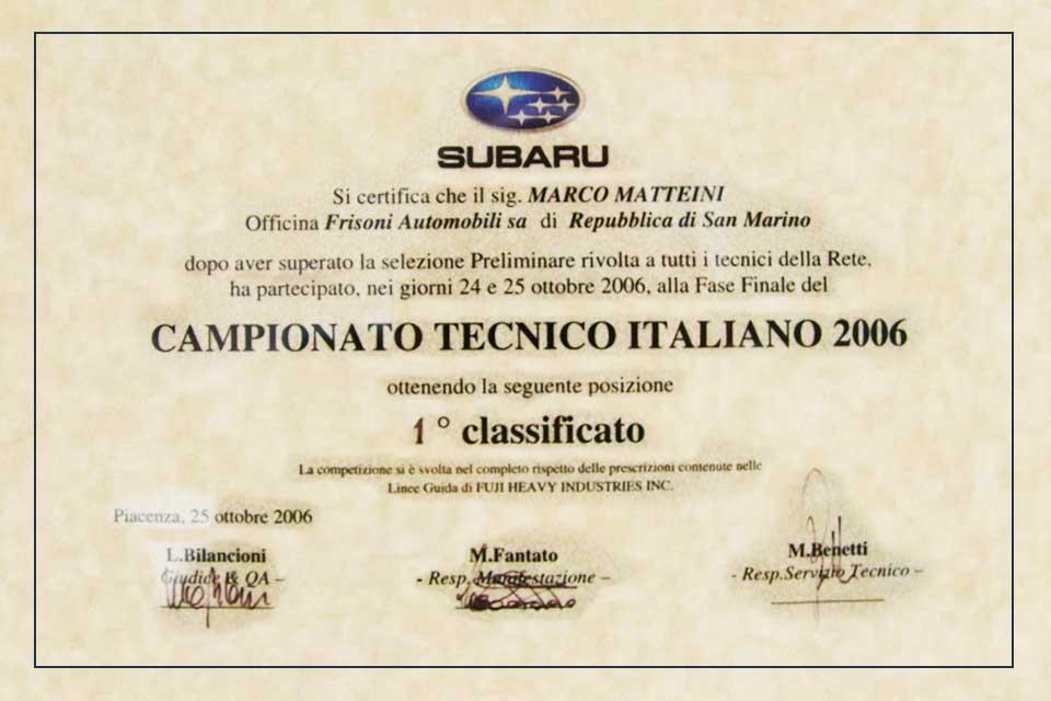 Campionato Tecnico 2006 Subaru